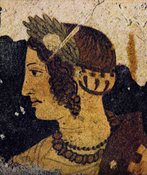 Tomb of Orcus mural Etruscan lady Velia Velcha profile portrait