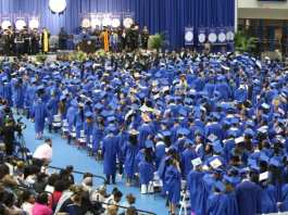 A past graduating class in the Gentry Center (Photo by: TSU Newsroom)