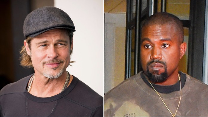 Brad Pitt was in attendance at Kanye West's Sunday Service and it's kind of a head-scratcher.