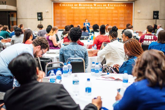 Attendees listen to speakers at the 2018 DiversifiED Conference hosted by the Tennessee Educators of Color Alliance. (Courtesy Photo)