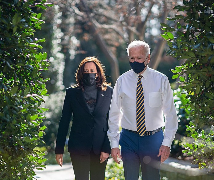 Vice President Kamala Harris and President Joe Biden meeting for lunch at the White House (Photo by: facebook.com/POTUS)