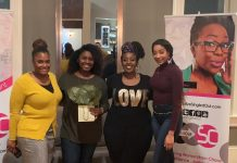 "(l-r) Camille Turner, Simone Parke, Kimberly ""Brownie"" Vaughn, and Rana Webb"