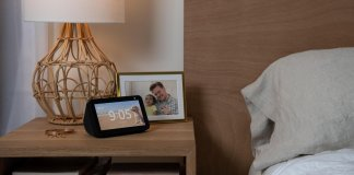 Amazon's Echo Show 5 has a physical shutter to block its front-facing camera.