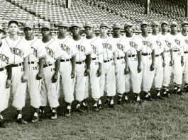 The 1954 Kansas City Monarchs. The team was one of the Negro Leagues' most famous and successful clubs. (Courtesy Negro Leagues Baseball Museum Inc.)