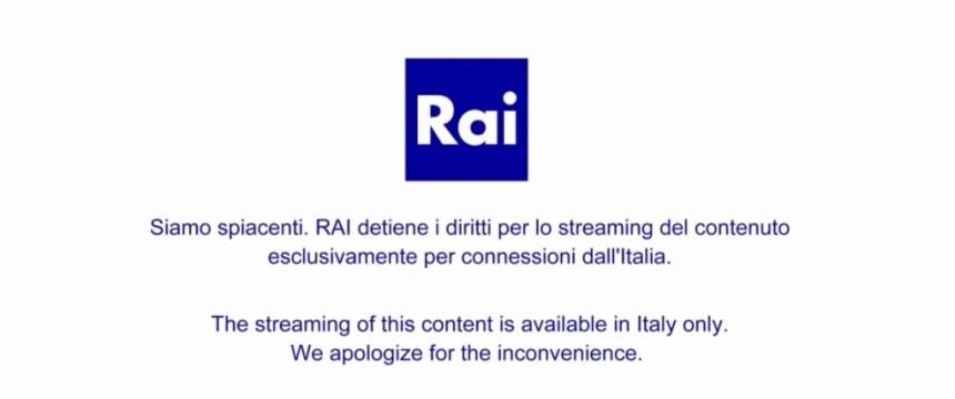Siamo spiacenti. RAI detiene i diritti per lo streaming del contenuto escusivamente per connessioni dall'Italia.