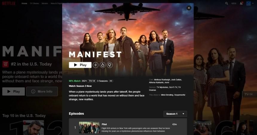 manifest season 3 netflix