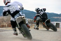 AMA Supermoto Practice at the Chip