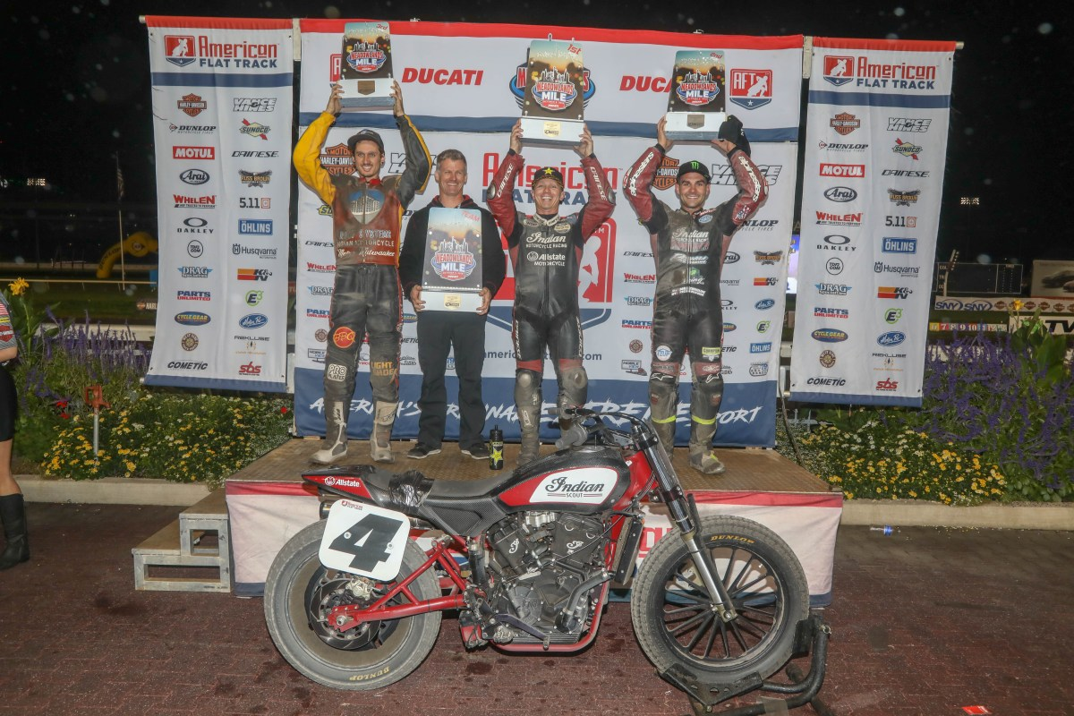 INDIAN MOTORCYCLE'S FTR750 FINISHES TOP FIVE AT  MEADOWLANDS MILE
