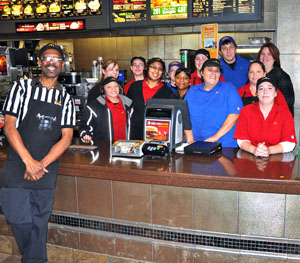 McDonald's Crew Member of the Year Ted Boyd with some of his crewmates. (photo submitted)