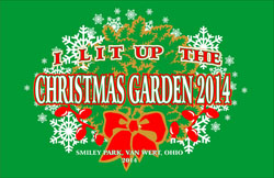 I Lit Up the Christmas Garden artwork 9-2014