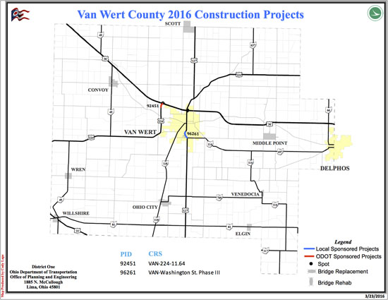 Odot Lists Highway Construction Projects The Vw Independent