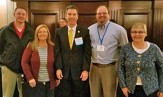 Rep. Riedel with VW SWCD staff 3-2017