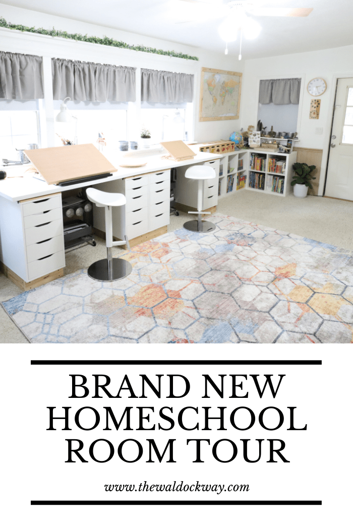 We updated our homeschool room to make it more age appropriate. Get a full look at our brand new homeschool room today!