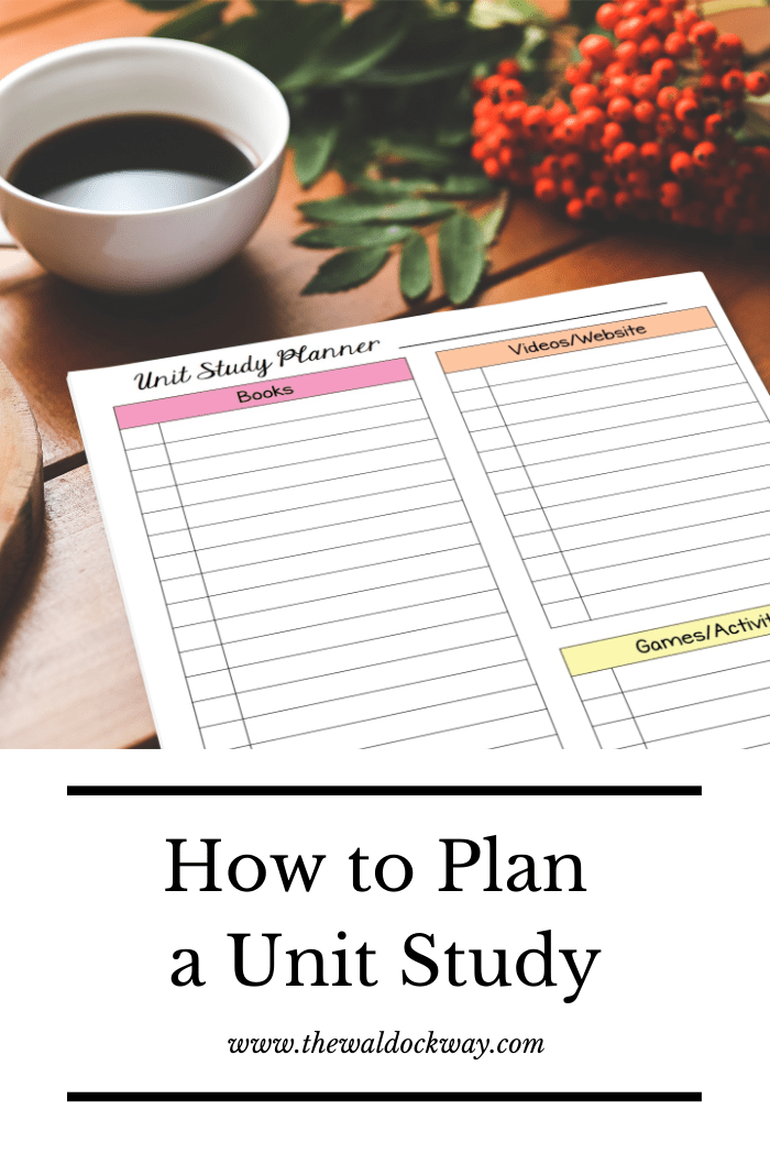 Unit studies are a great way for children to learn. See the complete steps I take when I plan unit studies for our homeschool.