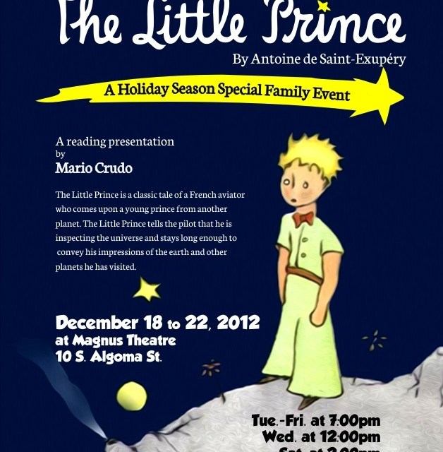 The Little Prince:  Magnus Theatre Presents a Holiday Season Special Event