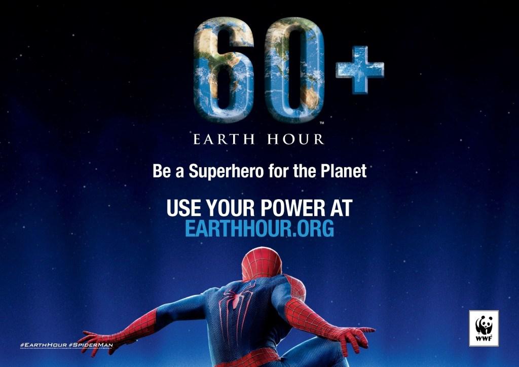 Earth Hour 2014 Superhero Ambassador Spider-Man