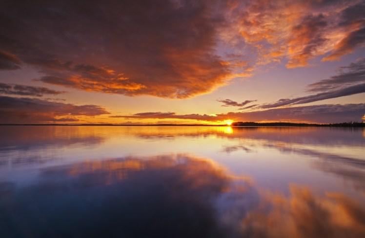 Sunset, Pakwash Lake Provincial Park