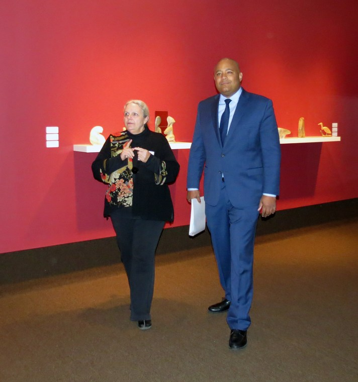The AG's Sharon Godwin and Minister Michael Coteau