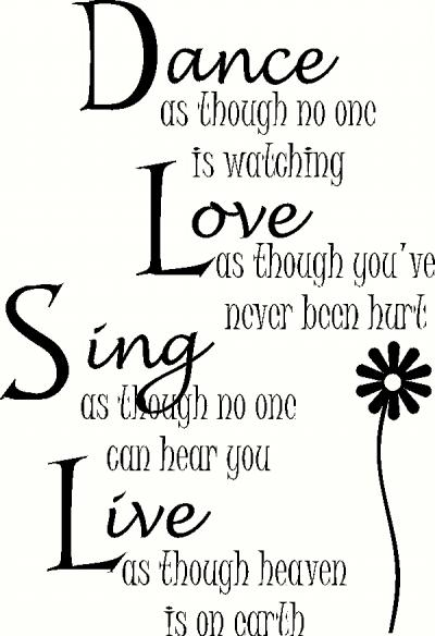 Download Dance Love Sing Live wall sticker, vinyl decal | The Wall ...
