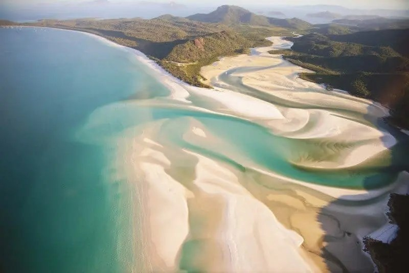 The magic of Whitehaven Beach from the air.