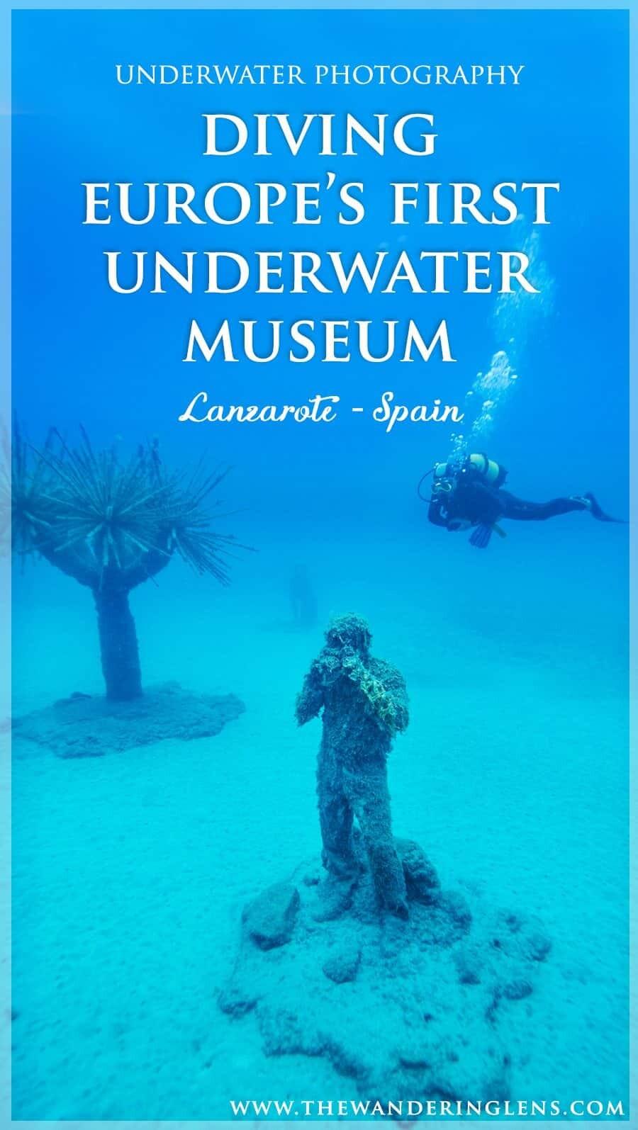 Underwater Museum in Europe, the Museo Atlantico off the coast of Lanzarote, Spain
