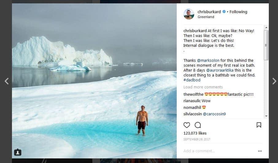 Chris Burkard Instagram Caption Example