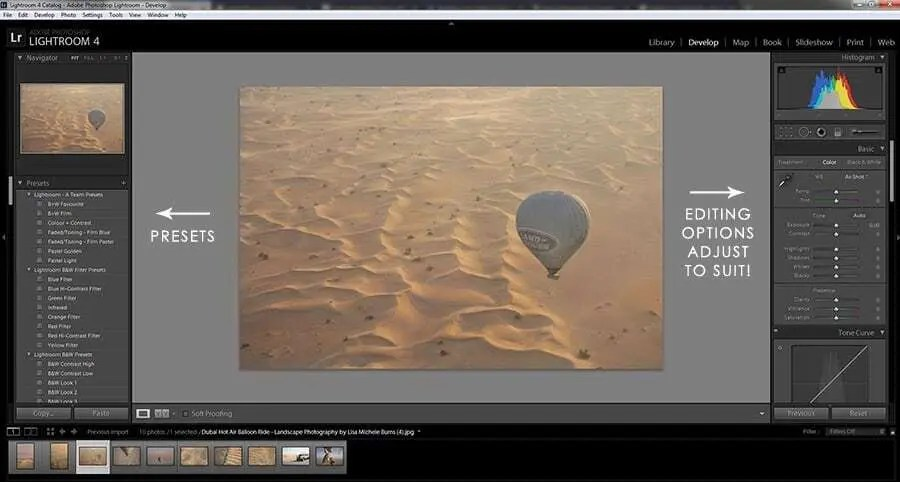 Editing for social media, how to use your editing to curate your images.