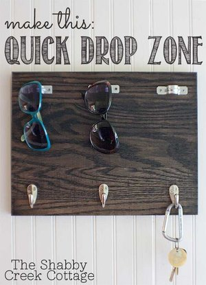 "Store sunglasses and keys with this DIY ""Quick Drop Zone"""