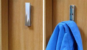 Use a door catch as a hideaway hook