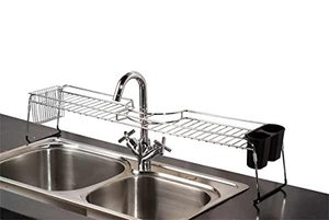 RV space saving ideas: Over-the-sink shelf