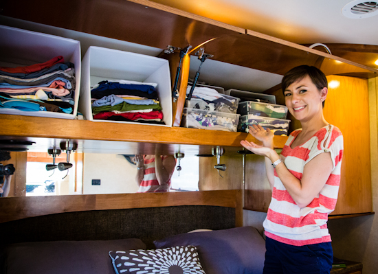 Use Storage Bins in Your RV Shelves  sc 1 st  The Wandering RV : rv kitchen storage ideas  - Aquiesqueretaro.Com