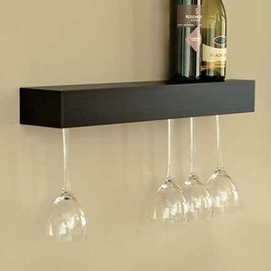 Camper space saver: floating wine rack