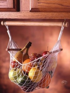RV organizer: fruit hammock