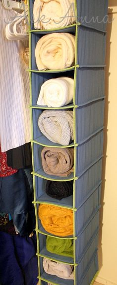 Shoe organizers to organize towels