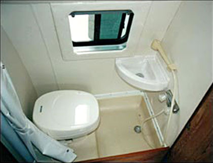 Shower toilet combo in an RV