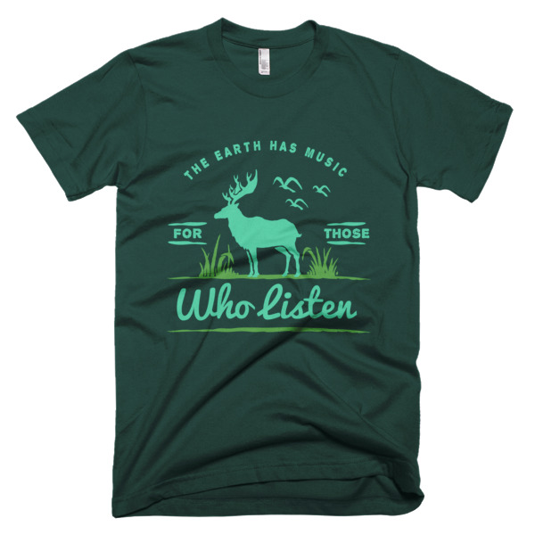 The Eart Has Music T-Shirt Forest Green