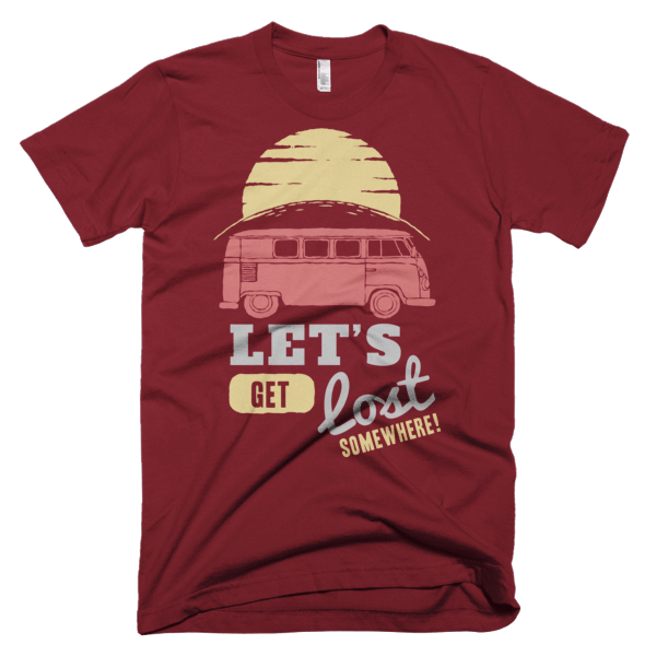 Let's Get Lost Somewhere T-Shirt Red