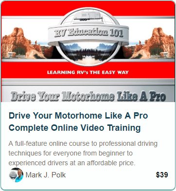 Motorhome Driving Course