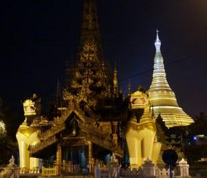 The Schwedagon Paya (or Pagoda) at Night