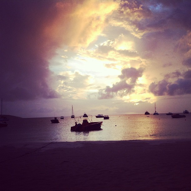 sunset in anguilla