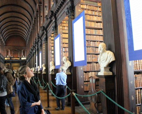 Book of Kells at Trinity College, Dublin, Ireland