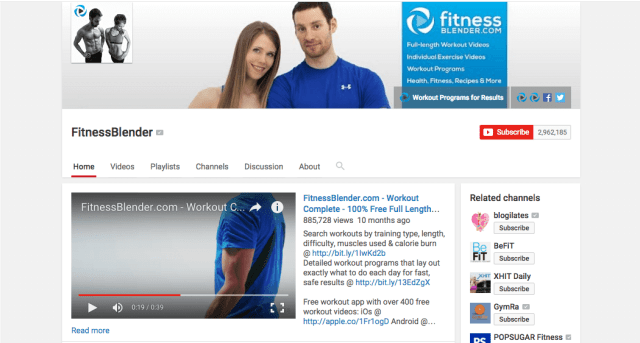 Fitness Blender on YouTube, Workouts for Travelers