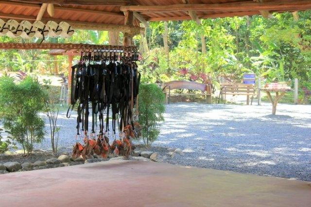 Zip lining equipment
