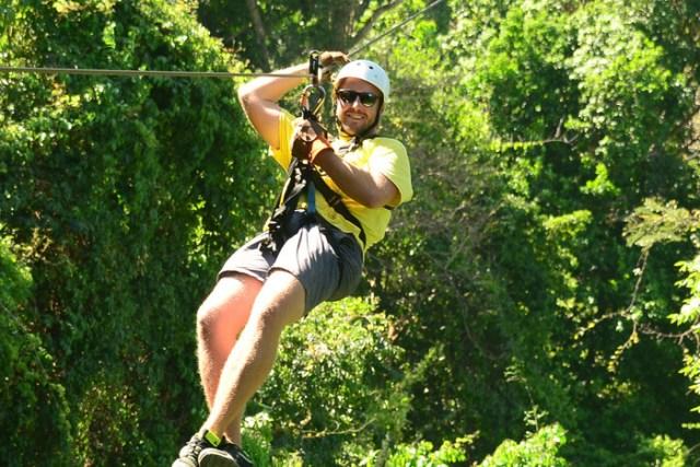 Ziplining at Los Suenos, Costa Rica