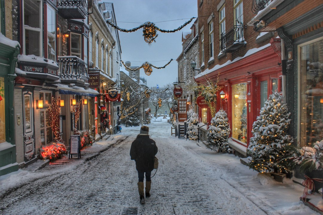quartier petit champlain christmas in quebec city
