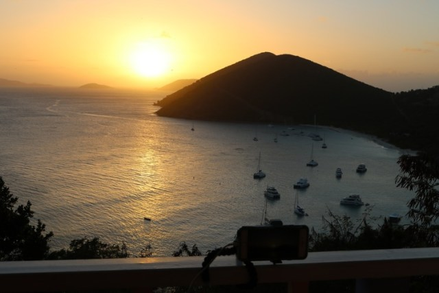 Sunset on Jost Van Dyke, BVI