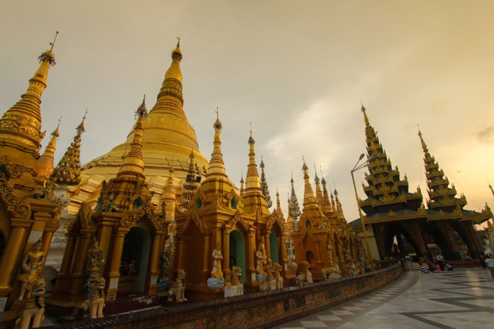 The attraction is 98 meters high, located in the beautiful city of Yangon in the equally beautiful Myanmar. The country's most revered shrine is called the Shwedagon Pagoda
