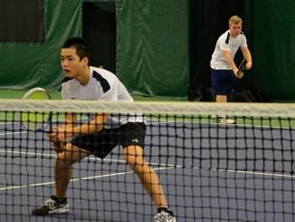 BC men's tennis team duo