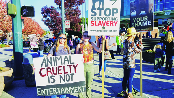 Protesters rally against Ringling Bros.