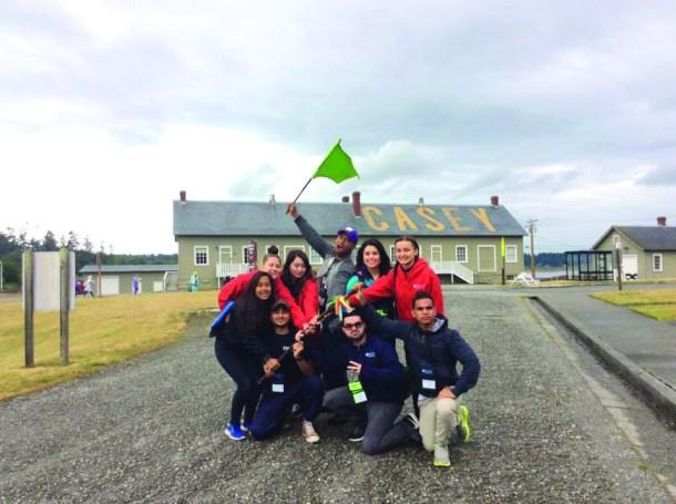 Camp Casey green flag